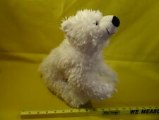 "Build A Bear ~ 14"" Long Stands on all Fours ~ White stuffed Bear/dog Plush Soft."