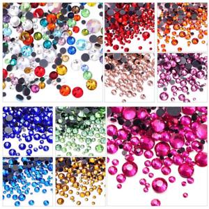 Colour Crystal Iron On Hotfix Glass Rhinestones Hot Fix Flatback Strass Stones