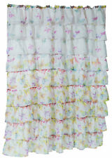 Carnation Home Carmen Polyester Shower Curtain Butterfly Print SCVOIL/CAR/BF New
