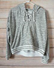 Decjuba  Kids Jumper Hoody Sweater Size Large Grey White Marle Long Sleeve