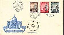 VATICANO 1955 SERIE CENT. SAN BARTOLOMEO  BUSTA FDC ARIMINUM FIRST DAY COVER