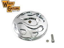Wyatt Gatling Flame Air Cleaner Cover Insert For Harley-Davidson