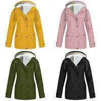 Parka Coat New Plus Size Womens Ladies With Faux Fur Hood Waterproof Winter