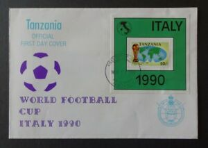 Tansania FDC 1990 - Fußballweltmeisterschaft Italien