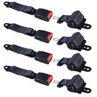 4 PCS Universal Retractable Golf Cart Seat Lap Belts for EZGO/Yamaha/Club Car
