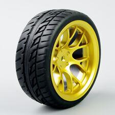 4PCS 1/10 Model car Tires&Wheel Rim Set For HSP HPI RC 1:10 On-Road Racing Car