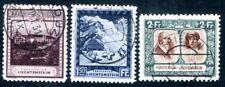 Liechtenstein 1930 104a, 106b, 107a con sello valores máximos (z2217
