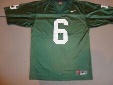 Green Nike Authentic NCAA Football #6 Ohio Baylor bears Screen Jersey Adult M