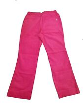 New Oilily Vintage Women's Hot Pink Corduroy Pants Size 36 40 US 6 10