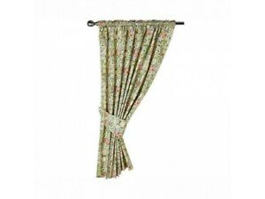 Gallery William Morris Golden Lily Lined Curtains & Tiebacks