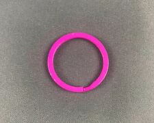 Flat Split Ring Color Split Ring 1-1/8 Inch Lot of 50- 25 Red and 25 Pink
