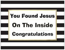 """Jail Prison Inmate Postcard """"Jesus Behind Bars"""""""