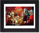 Dogs Playing Poker at Table #6 Wall Picture Gold Framed Art Print