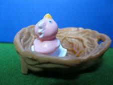 1994 ViNtAgE LiTtLeSt PeT ShOp Playset Chirpy Birds Nesting Home-BABY IN NEST