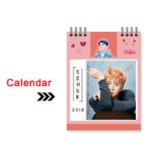 KPOP EXO 2018 Desk Calendar SEHUN Mini Picture Photo Album Gift