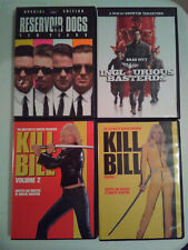 Lot of 4 Tarantino Dvds - Kill Bill 1 & 2, Inglourious Basterds, Reservoir Dogs