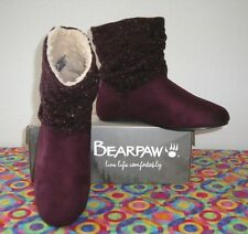 NEW  Bearpaw  Natoma WINE  Micro Suede / Knit Slouch  Indoor/Outdoor Boot   11