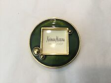 Vintage 2007 Neiman Marcus Jay Strongwater green enamel frame with stand & clip