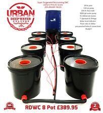 Urban RDWC Hydroponics 20L 8 Pot System w/Flexi Tank Not Alien IWS RUSH DWC