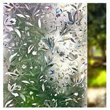 LEMON CLOUD 3D Window Film No Glue Static Decorative Privacy Films Window Frost