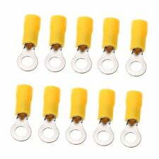 20pcs Yellow 10-12 AWG RV 5.5-5 Insulated Crimp Ring Terminal Wire Connector XUE