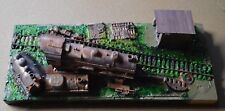 HO Scale Custom Built Diorama Steam Engine Junk Yard SJY