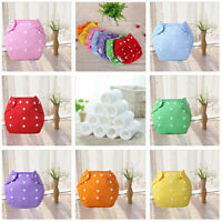 New Adjustable Reusable Baby Infant Washable Cloth Diapers Nappy Napkin Insert