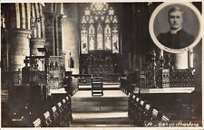 POSTCARD   YORKSHIRE  SCARBOROUGH  ST Mary's  Church ( Interior )  Rev  Lindsey