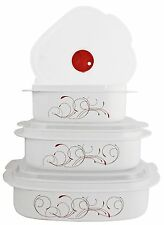 Corelle Splendor 6-Piece Microwave Cookware and Storage Set Bowl Containers