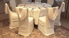 White Spandex Ruched Swag Back Chair Cover FOR EVENT DECOR HIRE ONLY!!!