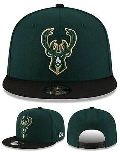 Milwaukee Bucks New Era 9Fifty Youth Kids Two Tone Green Black Snapback Hat Cap