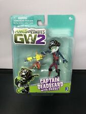 New Jazwares Plants vs Zombies GW2 Captain Deadbeard with Parrot Figure