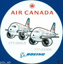 RARE AIR CANADA FLAG CARRIER AIRLINE BOEING 777-233LR, 777-333ER STICKER