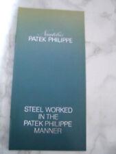 1970'S SS PATEK PHILIPPE JUMBO NAUTILUS 3700 CATALOG / BOOKLET / BROCHURE  *6756