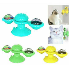 Cat Turning Windmill Turntable Tickle Cat Toy Scratch Hair Brush Pet Molar Chew