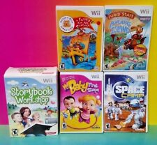 Storybook Workshop Baby Space Camp Build a Bear Nintendo Wii / Wii U Game Lot