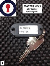 Clé Maîtresse l&f 64001-65000 Lowe et Fletcher Locks 1st p&p (1)