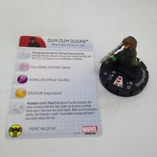 Heroclix Nick Fury, Agent of SHIELD set Dum Dum Dugan #017 Uncommon fig. w/card!