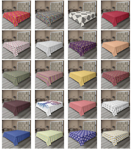 Ambesonne Abstract Design Flat Sheet Top Sheet Decorative Bedding 6 Sizes