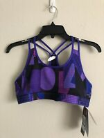 Under Armour Girls Youth Fitted Purple Sports Bra Top HeatGear Size YXL