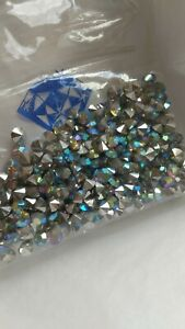 2 Gross Pack Crystal AB Silver Foil Point Back Rhinestones New Pack 29 SS