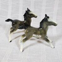 Pair of Vintage Gray Foal Figurines Hi Ho 2067 Vintage Ceramic Horse Pony