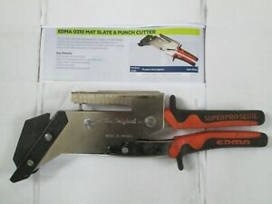ROOFERS TOOLS - EDMA MAT SLATE & PUNCH CUTTER UNUSED STORED