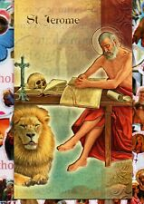 Saint St Jerome - Biography, prayer, Feast Day, etc... Folder Card