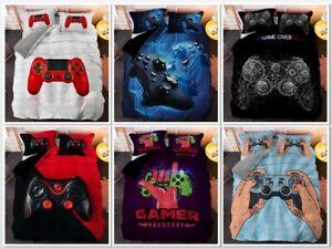3D Gamer Video Games Colourful Duvet Cover Single Bedding Quilt Cover Pillowcase