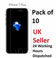 100% GENUINE TEMPERED GLASS SCREEN PROTECTOR FOR APPLE IPHONE 7 PLUS(PACK OF 10)