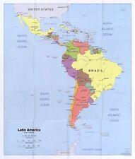 "HP  20"" x 24"" 2006 Map Latin America"