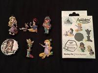 Disney Animators COMPLETE SET (6) Series 2 Mystery Pin Badge Rapunzel Aurora