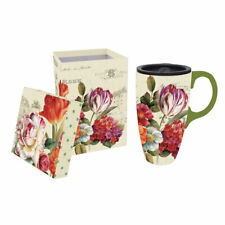 Evergreen Flag Garden View Ceramic Latte 17oz Travel Cup w/Gift Box