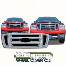 2004-2008 Ford F150 STX / FX4 Plastic Chrome Bar Grille Insert / Overlay GI/18